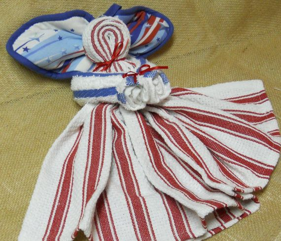 This Little Patriotic Kitchen Angel Is Made From A