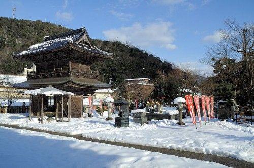 城崎温泉  城崎温泉は兵庫県の日本海側に位置しており、冬になると毎年雪が積もります。