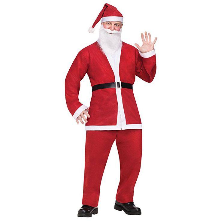 2017 New Arrival Plus Size Adult Costume Santa Claus Suit Christmas Costumes For Men Coat Pants Beard Belt Hat Set Christmas Set  Price: 11.00 & FREE Shipping  #bestbuy