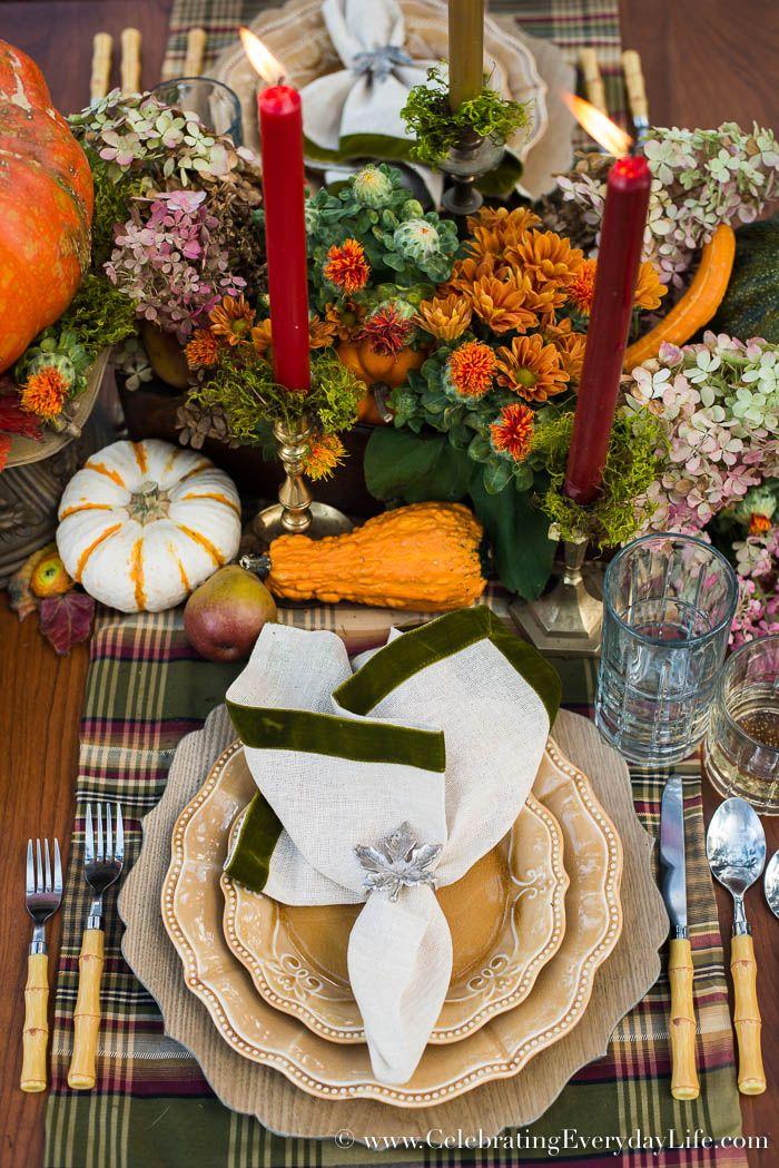 A Fall Tablescape, Welcome Autumn, Fall Entertaining, Outdoor Fall Entertaining, Pumpkin Centerpiece