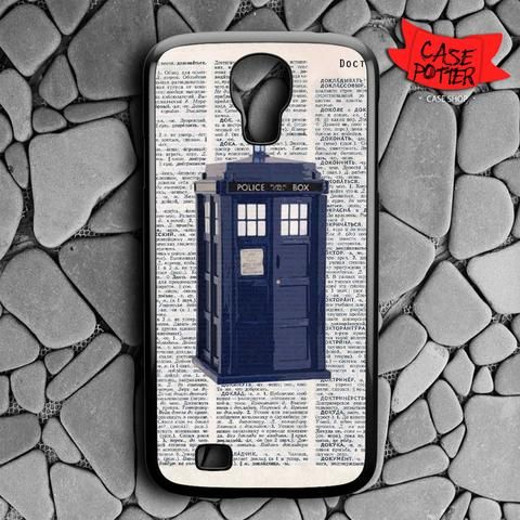 Dictionary Tardis Doctor Who Samsung Galaxy S4 Black Case