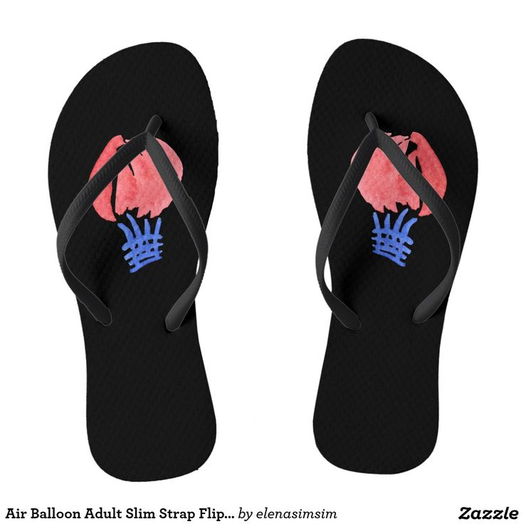 Air Balloon Adult Slim Strap Flip Flops