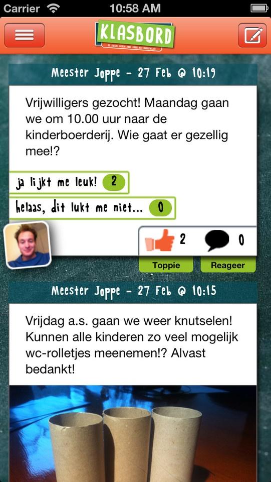 Klasbord iPhone app