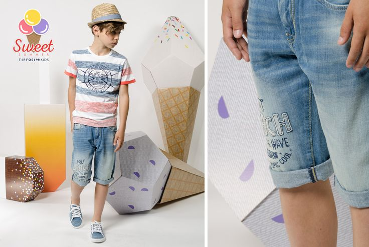 MAY'15 LookBook TIFFOSI KIDS #tiffosi #tiffosidenim #tiffosikids #lookbook #maio #may #trend #ootd #look #collection #ss15 #summer #newin #denim #getthelook #lookoftheday #dailylook #totallook #kidscollection #girl #boy #kidsfashion #icecream