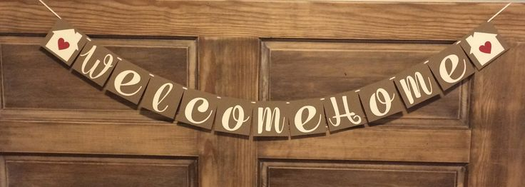 Welcome Home Banner, Housewarming Party Banner, Open House Banner, House Signing Decor by BeeYouDesigns on Etsy https://www.etsy.com/listing/533290981/welcome-home-banner-housewarming-party