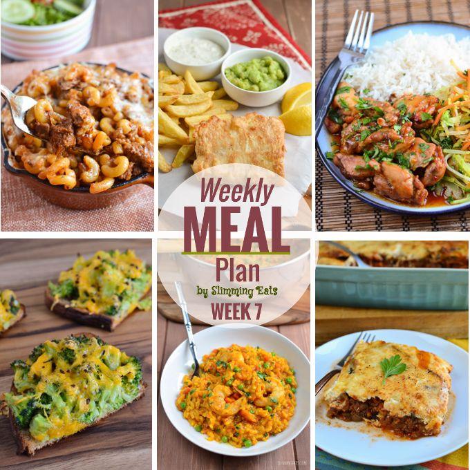 Slimming Eats Weekly Meal Plan - Week 7