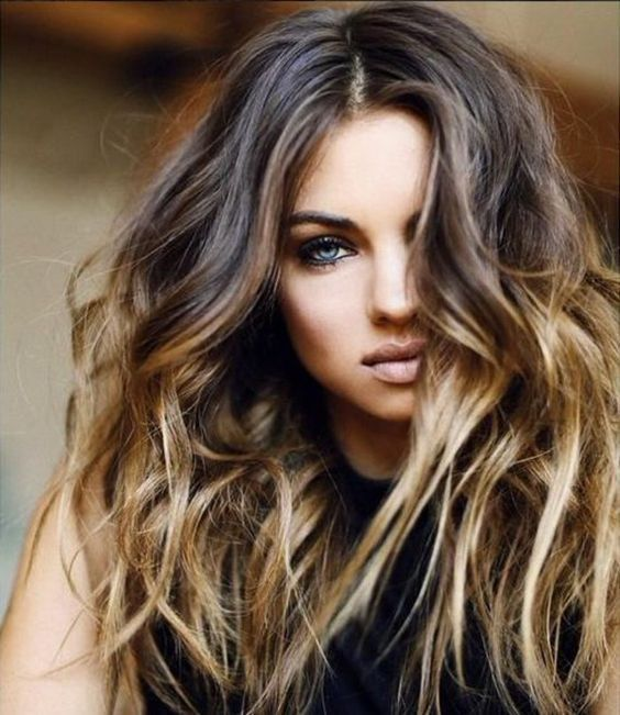 balayage ombre hair blond dore