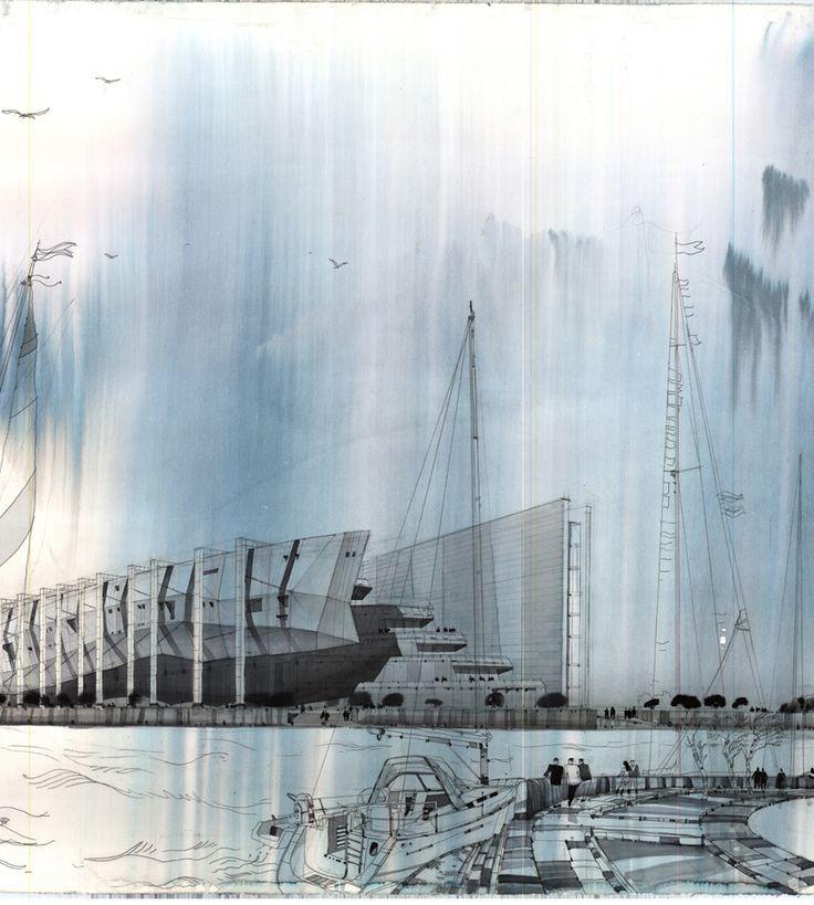 conceptual rendering of museum