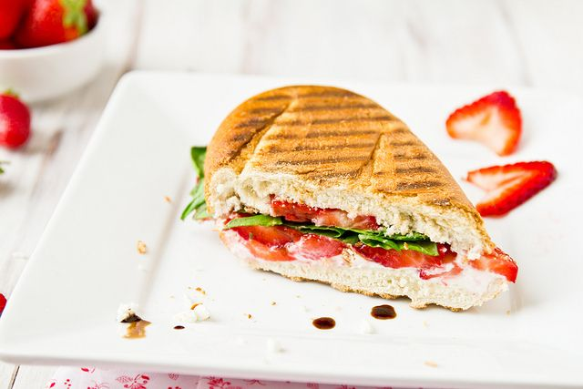 Strawberry & Goat Cheese Panini with Arugula and Balsamic by ...