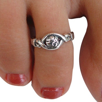 GemGear Sterling Silver Vb Pinkie/Toe Ring at Volleyball.com