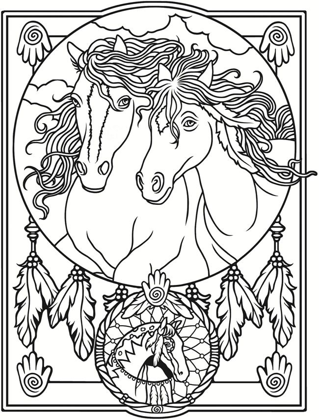 489 best Coloring Pages Horses Carousel images on Pinterest