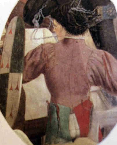 1452 - 1466 by Piero dell Francesca, Victory of Heracleus, Arezzo - garment with points, civil or arming?