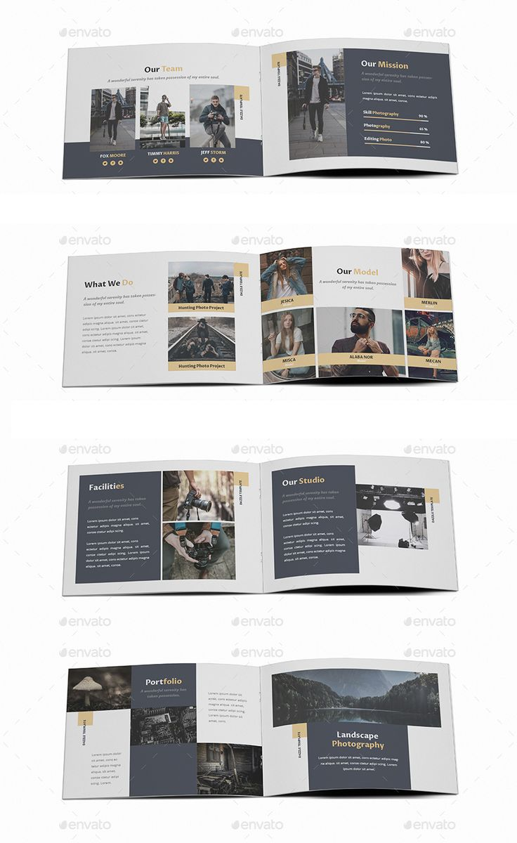 Photography A5 Brochure Template