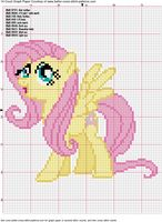 Fluttershy Cross Stitch Pattern by *AgentLiri Crossstitch and Embroidery Pattern My Little Pony Crafts Tutorial My Little Pony Patterns for Fan Art Diy Projects, My Little Pony Sewing Template for Unicorn , pony, ponies, pattern, template, sewing, diy , crafts, kawaii, MIP
