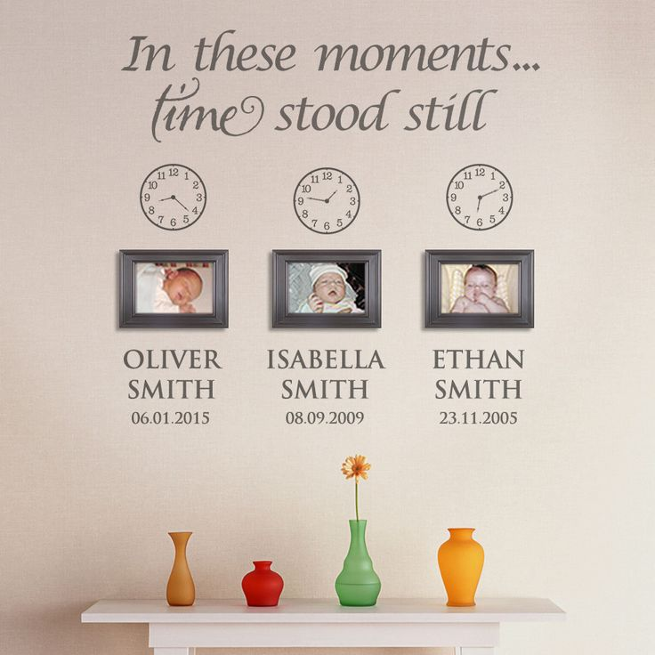 In these moments, time stood still Personalised Wall Stickers