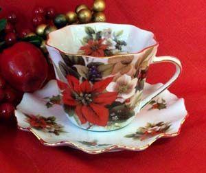 Victorian Christmas Teacup