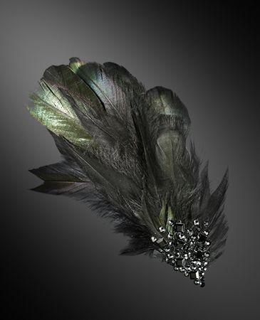 Zdenka Arko Jet Crystal Hairpiece HA11002-36 - Rhinestone Jewelry | Dancesport Fashion @ DanceShopper.com