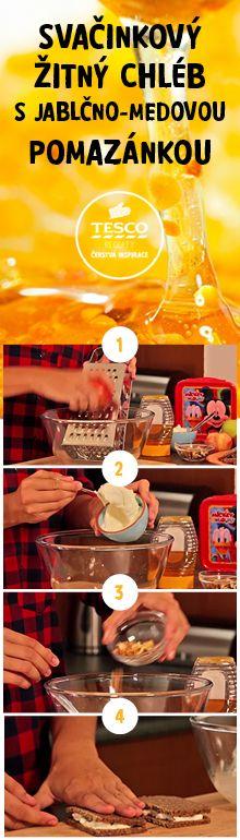 Připravte si svačinkový žitný chléb s jablečno-medovou pomazánkou podle našeho videoreceptu!