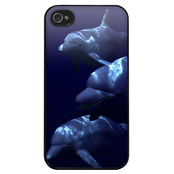 iPhone 4 4s 5 5s case stunning dolphins iphone case by TMSpromo, £5.99