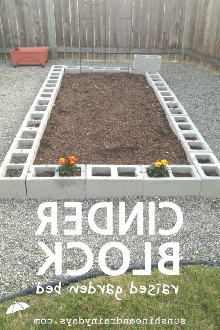 how to build a cinder block raised garden bed Building a