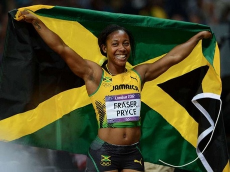 'Pocket Rocket' Shelly-Ann Fraser-Pryce is the 100m champion at the 2012 London Olympics. #TeamJamaica