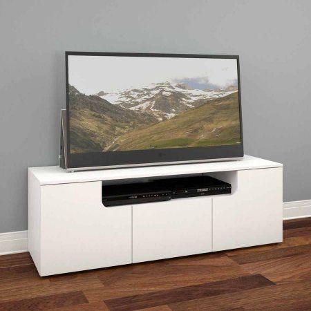 Nexera Arobas White 60 inch TV Stand For TVs up to 66 inch