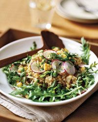 Herbed Brown Rice Salad with Corn, Fava Beans and Peas Recipe on Food & Wine