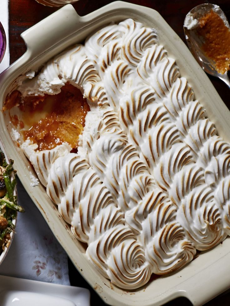 You'll want to eat this maple meringue sweet potato casserole straight out of the pan.