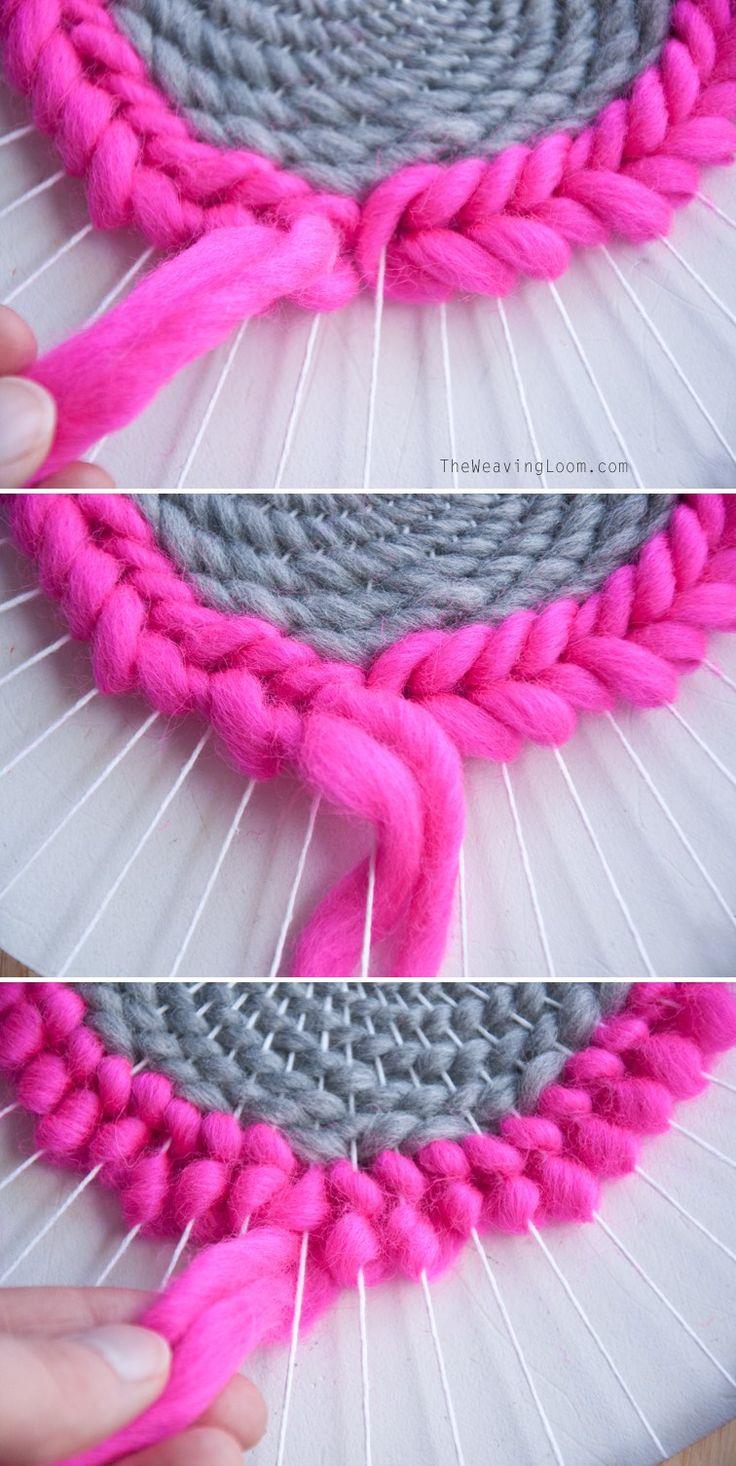 Weaving Techniques || Circular Soumak Finish | The Weaving Loom
