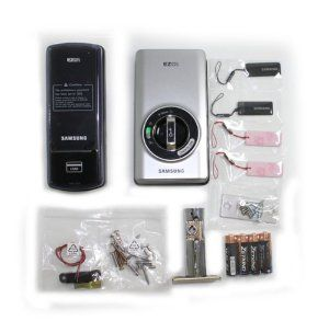"""Samsung Ezon Digital Door Lock SHS-3420-60(60mm:2 3/8""""Deadbolt)-[New Model of SHS-3121] by Samsung. $229.00. The Samsung Digital Deadbolt is a new product offering a secure keyless solution that targets not only commercial users but also residential environments. It can be installed into an existing deadbolt hole with no additional modifications and will work with any standard door. It features either pin based authentication or RFID card authentication with support fo..."""