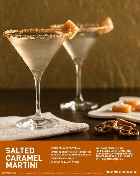 Salted Carmel Martini Yummy!