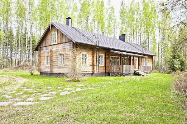 Log house for sale in Kangasniemi, Finland / Summer time