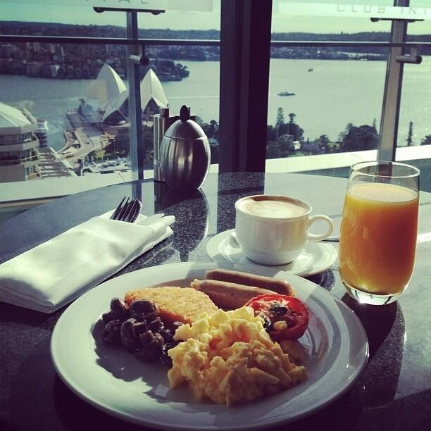 Breakfast @ Intercontinental Sydney overlooking the opera house