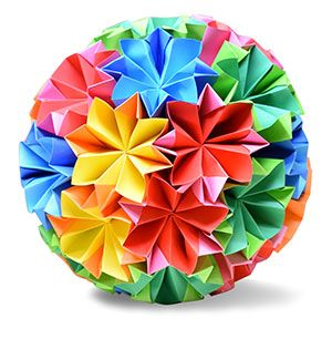 origami kusudama traditional1