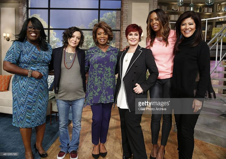 Emmy Award-winning actress Alfre Woodard visits the ladies of 'The Talk,' Monday, January 5, 2015 on the CBS Television Network. From left, Sheryl Underwood, Sara Gilbert, Alfre Woodard, Sharon Osbourne, Aisha Tyler and Julie Chen, shown.