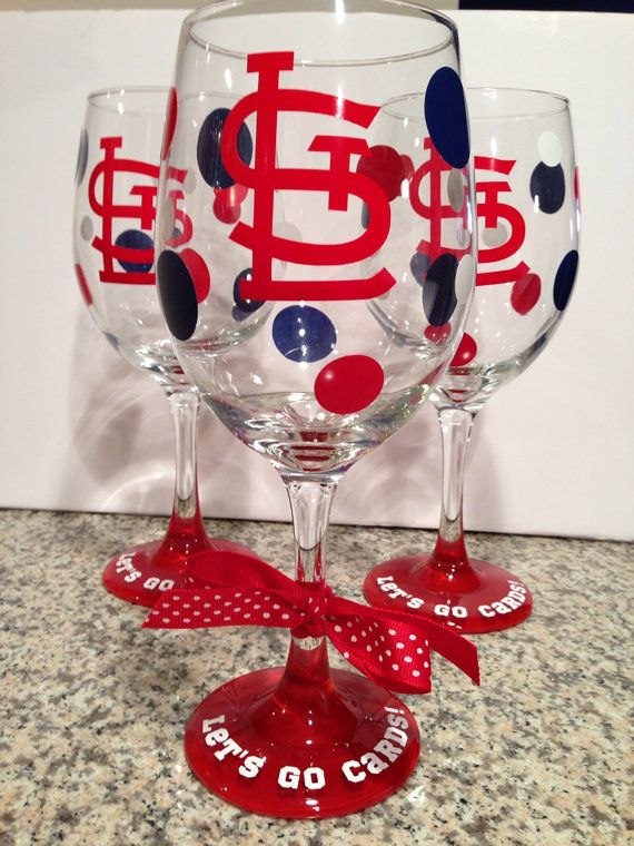 20oz St. Louis Cardinals Wine Glass by Randipity on Etsy