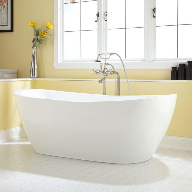 Best 25 acrylic tub ideas on pinterest one piece tub for Best acrylic bathtubs
