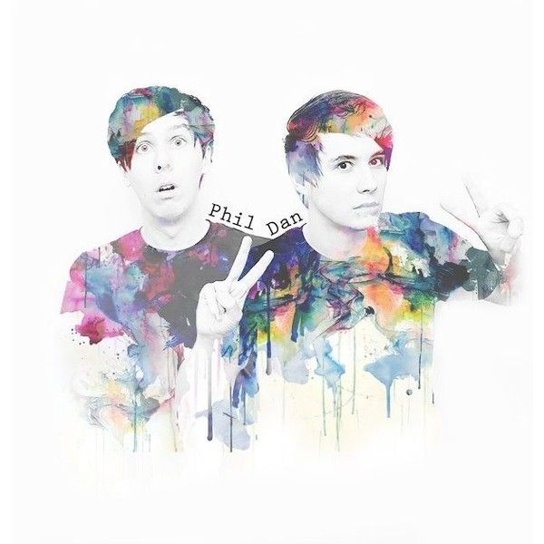 Dan and Phil art Dan Phil ❤ liked on Polyvore featuring youtube, draw and photos