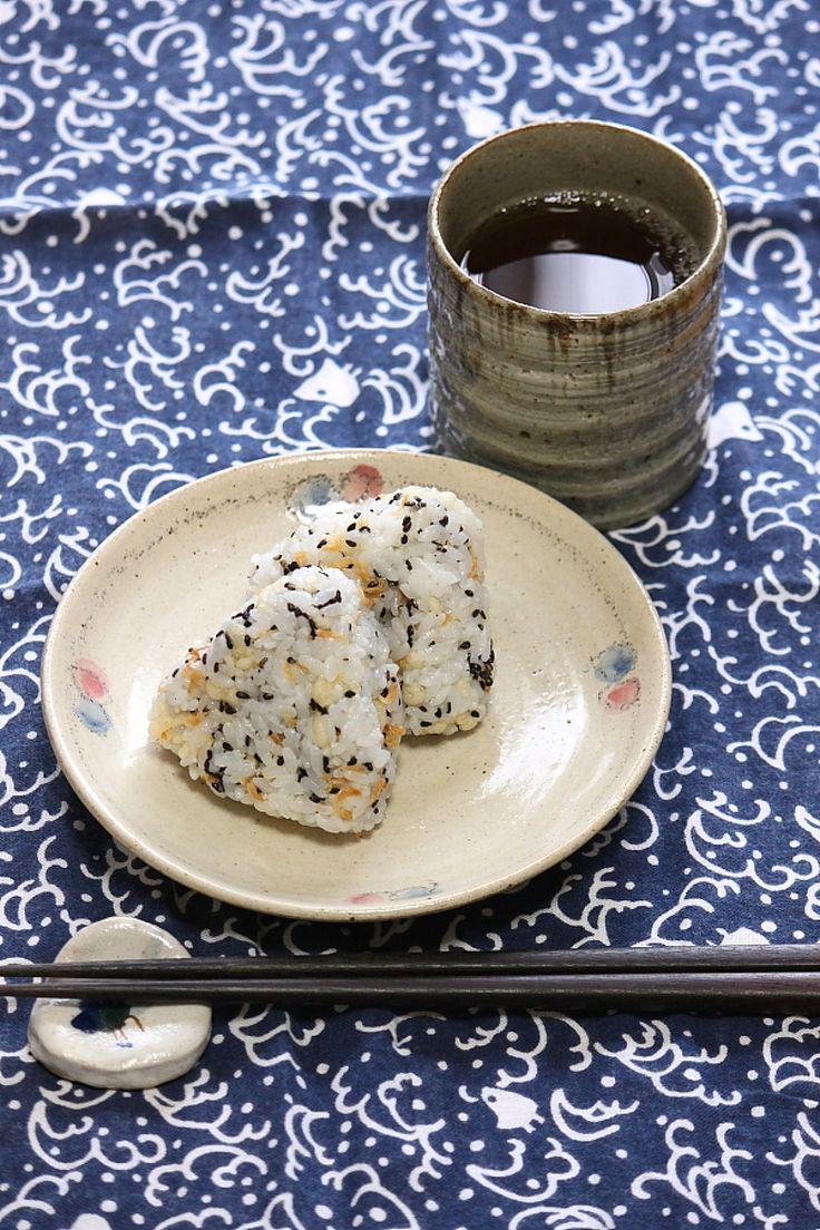 Tempura Rice Balls. 海老のかき揚げ風おにぎり