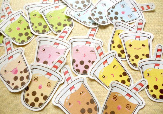 Bubble Tea stickers.  https://www.etsy.com/listing/181723960/cute-sweet-delicious-tapioca-bubble-tea