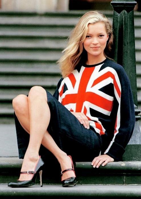 Kate Moss - a British fashion icon