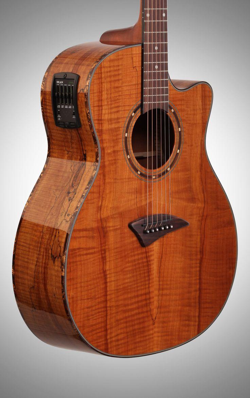 dean exotica spalt maple acoustic electric guitar review - Google Search