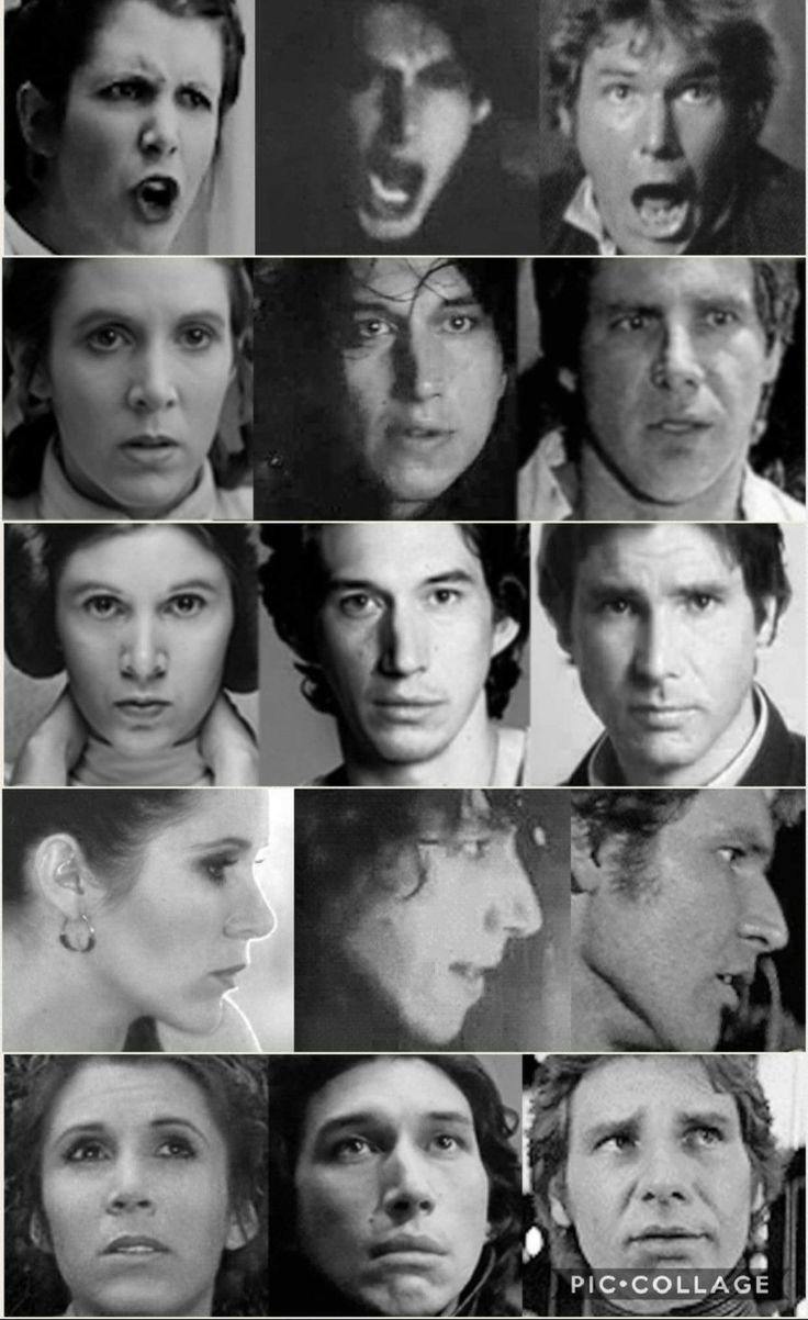Star Wars: A New Hope-Star Wars: The Empire Strikes Back-Star Wars: Return of the Jedi-Star Wars: The Force Awakens-Star Wars: The Last Jedi-Leia Organa-Kylo Ren-Ben Solo-Han Solo | I will fight anyone who says Ben doesn't look like his parents