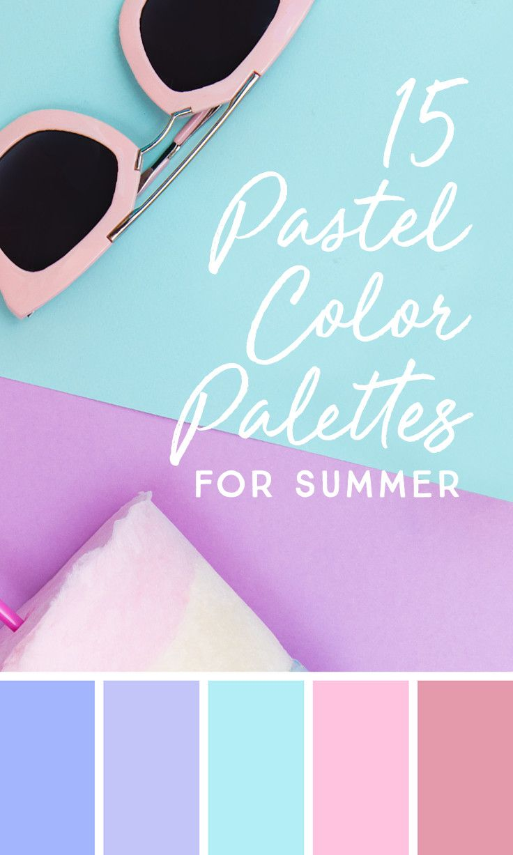 On the Creative Market Blog - 15 Downloadable Pastel Color Palettes For Summer