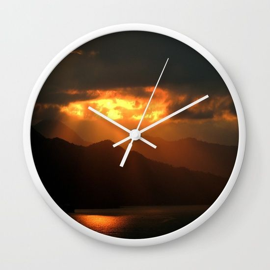 Rays From The Sky Wall Clock