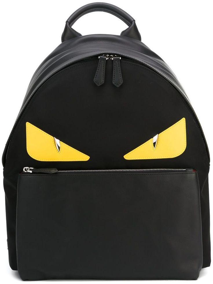 FENDI BACKPACK BAG BUGS BACKPACK BLACK MONSTER EYES 7VZ012 8FC F0R2A  #FENDI #Backpack