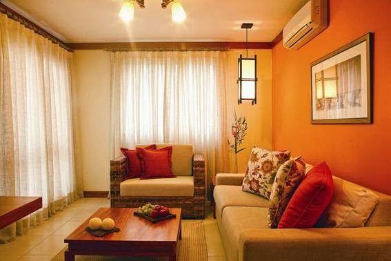 Salas Decoradas en Color Naranja - Para Más Información Ingresa en: http://decoraciondesala.com/salas-decoradas-en-color-naranja/