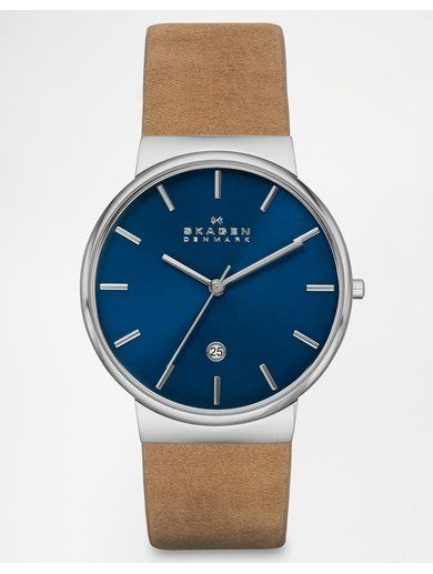 Skagen Tan Leather Strap Watch SKW6103 - Brown