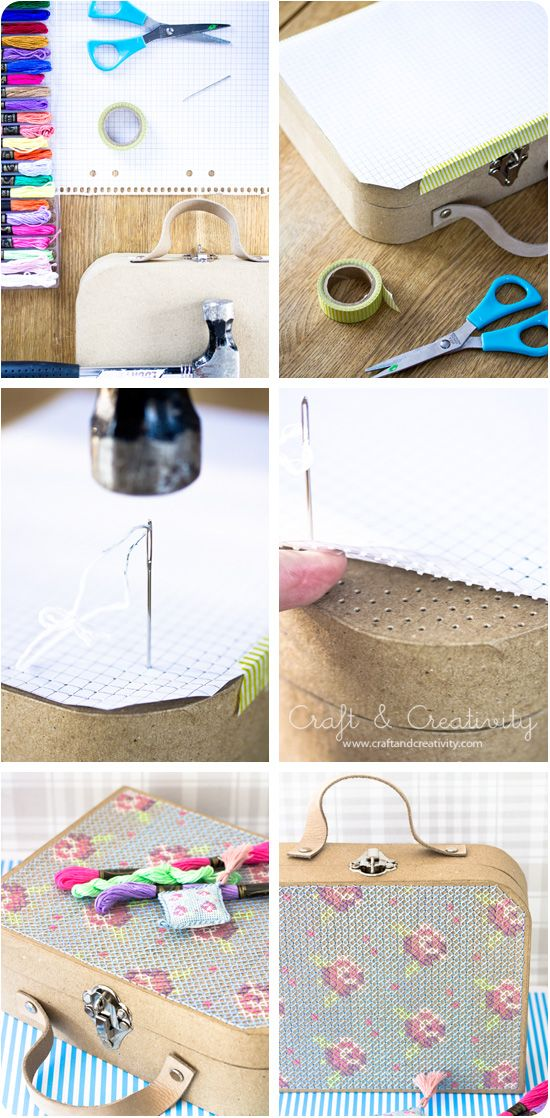 DIY: embroidered suitcase