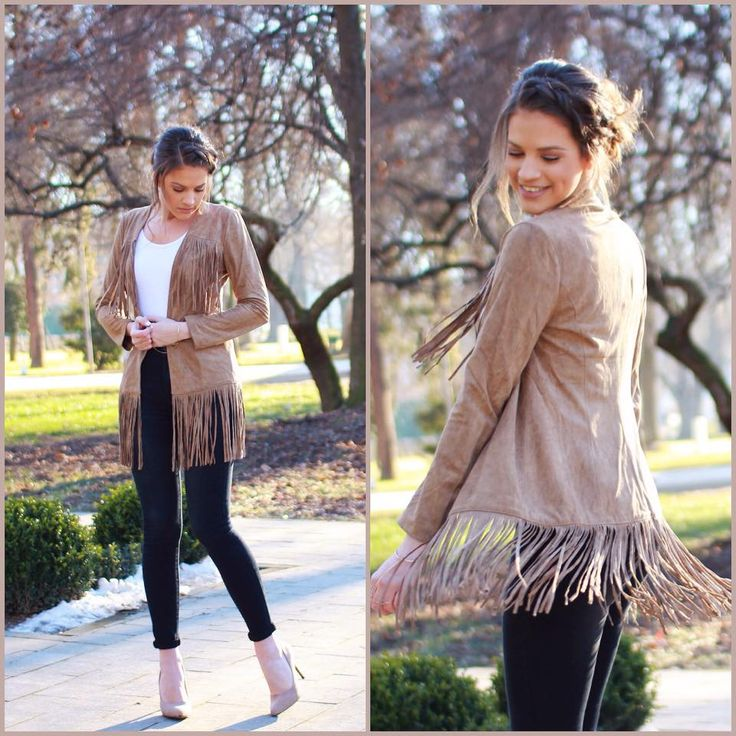 Fringe Fashion.....adopt a Boho look for the transition perioad with this item available at www.famevogue.ro...:)  #fringe #blazer #casual #street #style #trends